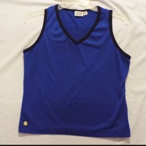 Women's Tail Tank Top Blue and Black Softball